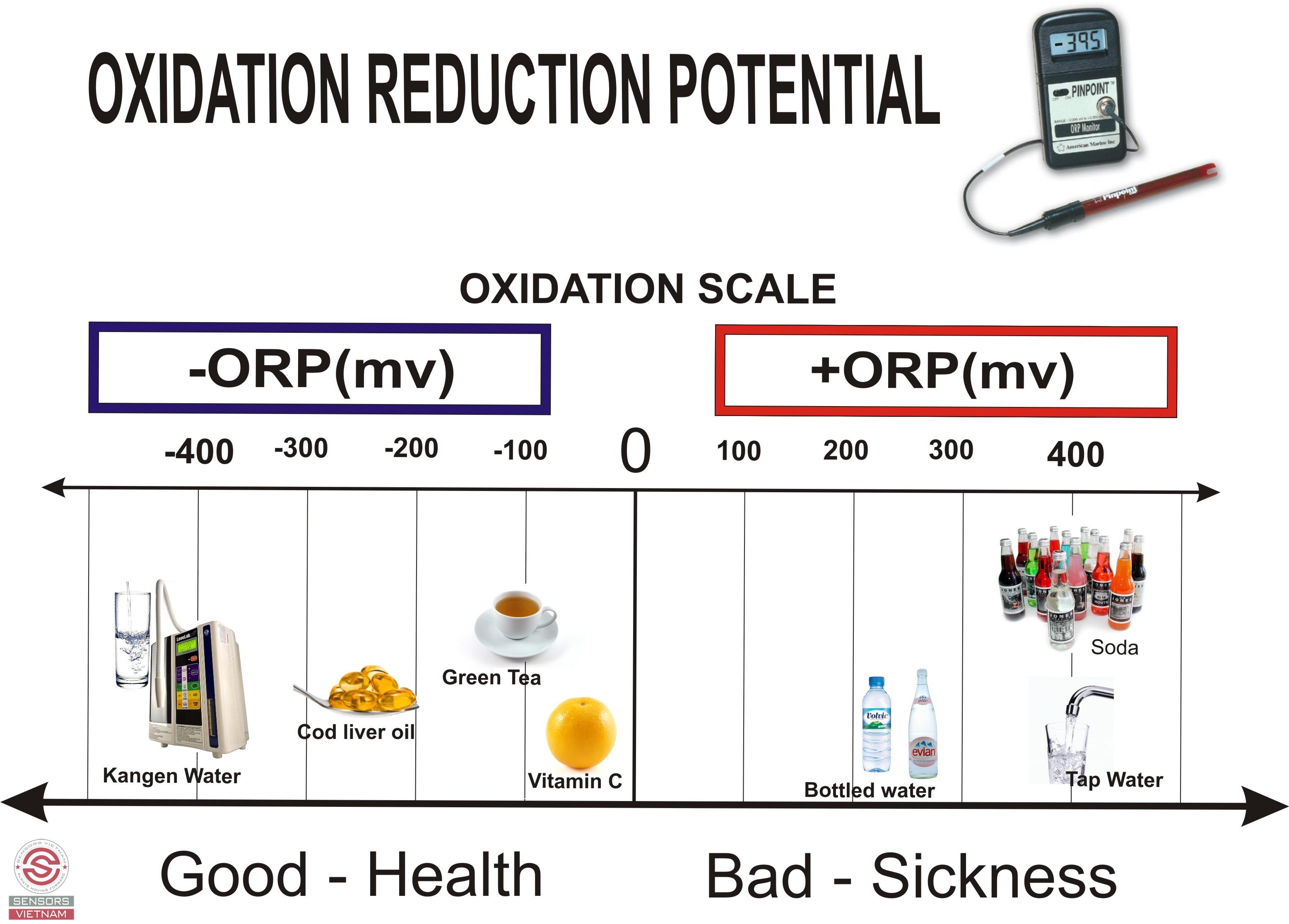 Chỉ số ORP là gì? Tại sao phải đo nó? Mối liên hệ với pH như thế nào? -  SENSORS VIỆT NAM - Phân Phối Cảm Biến - Đồng Hồ Áp Suất